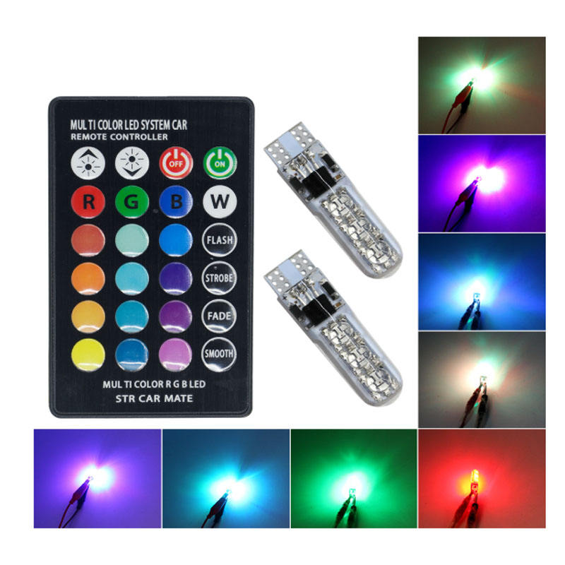 Beliebtes Produkt <span class=keywords><strong>T10</strong></span> 5050 6smd Silikon RGB mit Steuerung Canbus Lese lampe 194 <span class=keywords><strong>W5W</strong></span> <span class=keywords><strong>LED-Lampe</strong></span>
