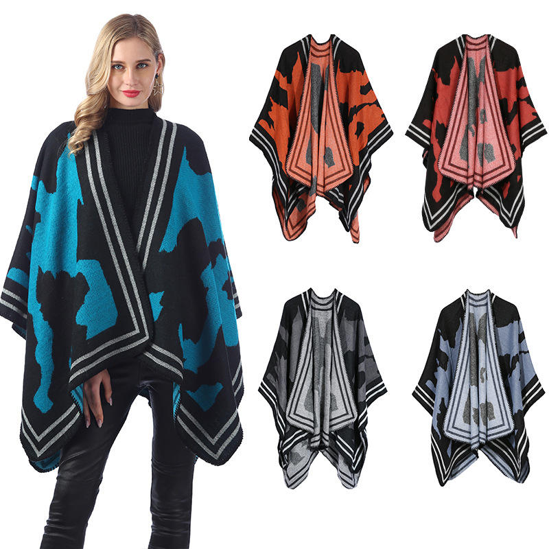 D1764 New Arrival Women Winter Oversized Coat Wrap Cashmere Pashmina Shawl Blanket Scarf