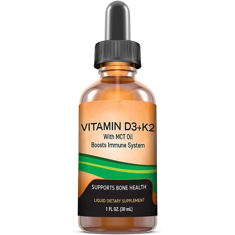 MAX Absorption Vitamin D3 K2 (MK-7) Liquid Drops Helps Support Strong Bones