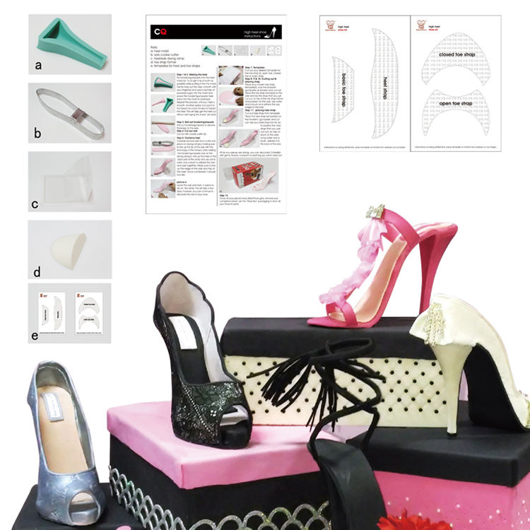3d Cake Molds Silicone Decoration High Heel Shoe Mold Silicone Molds For Cake