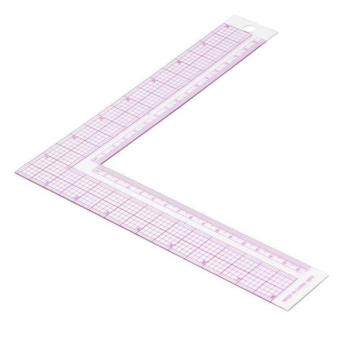 Sewing Ruler 5808 Style Plastic L Square Shape Ruler Quilting Ruler Professional Diy Clothing Tailor Ruler