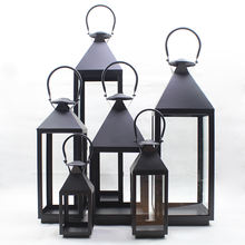 Hot selling outdoor home decorative wood candle holder lanterns