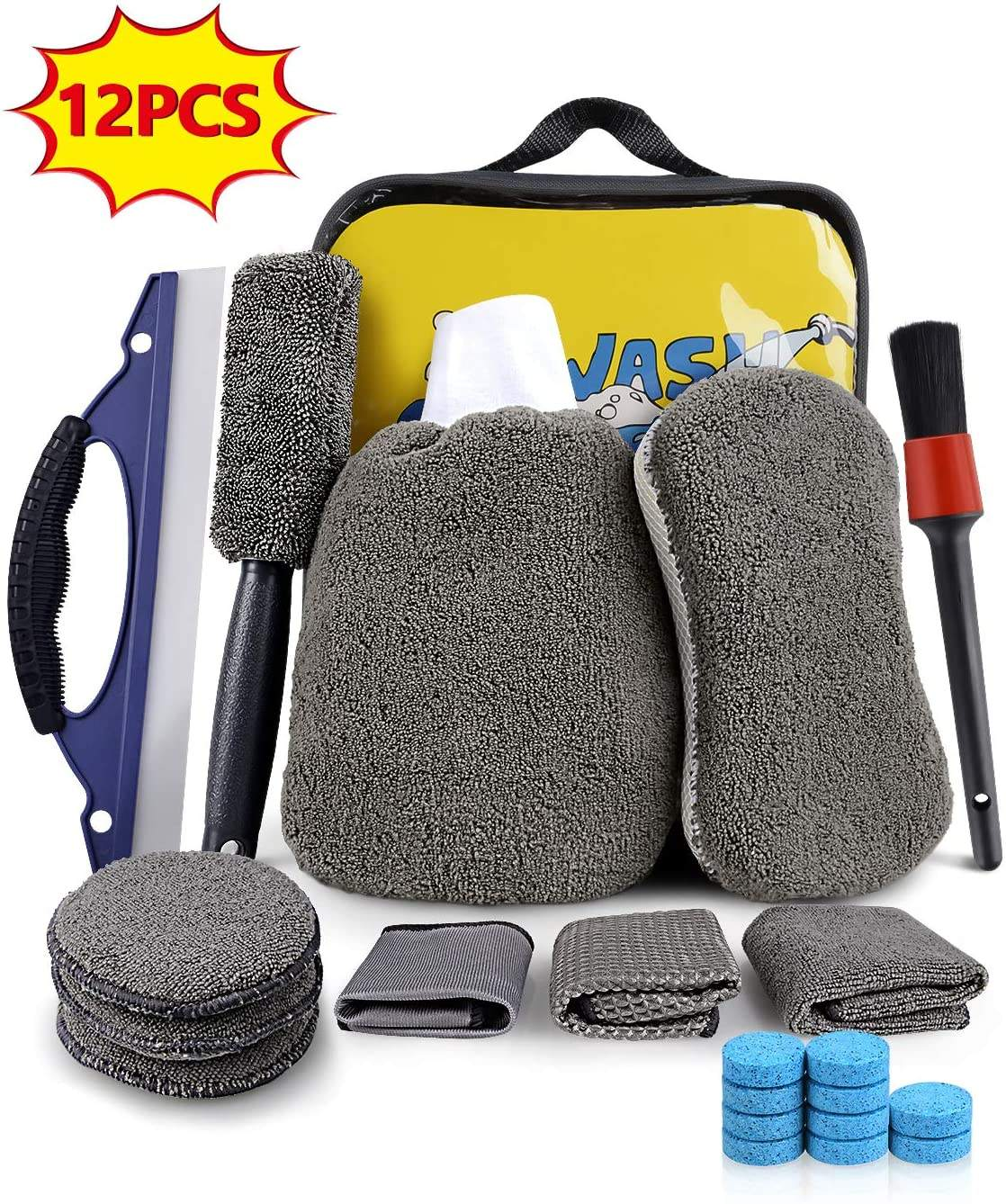 Fabrikant Wasstraat Kit Cleaning <span class=keywords><strong>Set</strong></span> Met Microfiber Handdoek Spons Mitt Wax Applicator Wiel Borstel Stofdoek