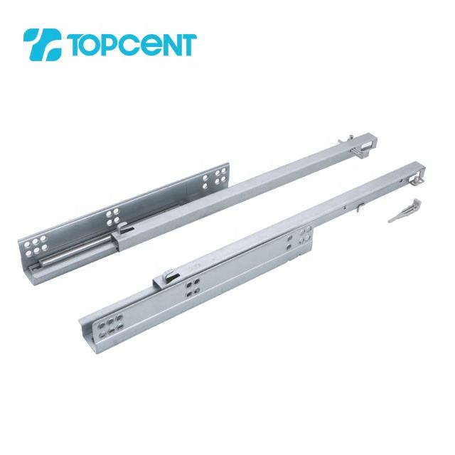 TOPCENT heavy duty undermount sliding rail soft close drawer slide