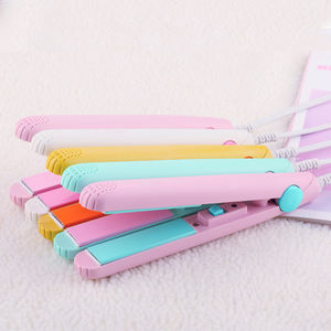 2020 hot sale wire colorful ceramic coating mini portable fat iron hair straightener//