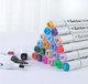 2-1 Paint Marker Pen 24 Colors set Plastic Type Ink Writing plastic marker pen