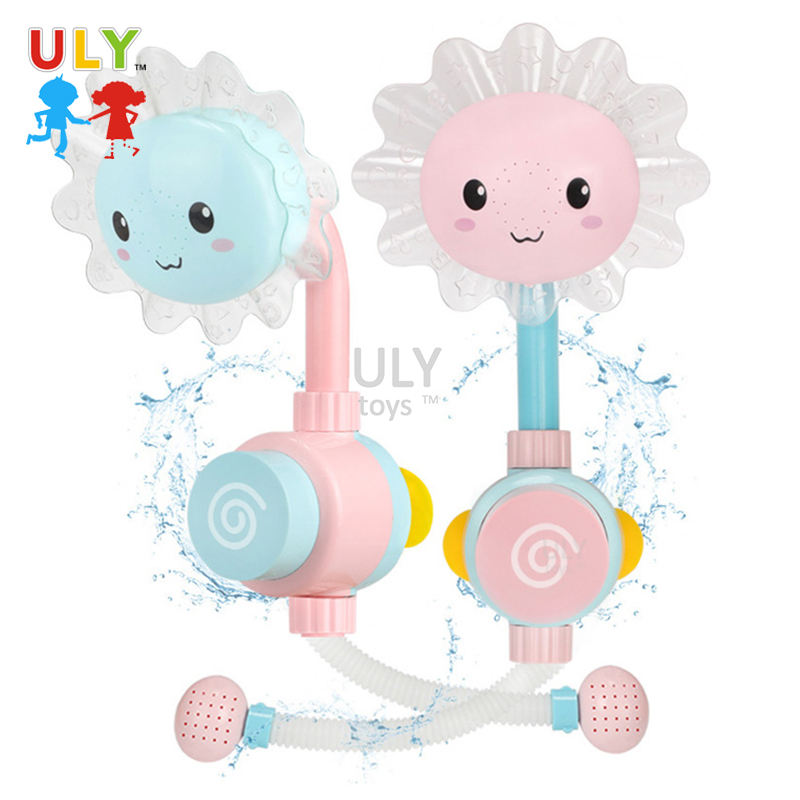 Baby Bad Douche Speelgoed Manual Zonnebloem Douche Bad Spray Water Douche Speelgoed Baby Bad Speelgoed Badkamer Game Voor Kid