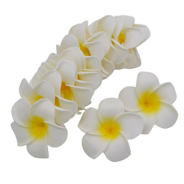 Artificial Hawaii Beach Plumeria Foam Egg Flower Frangipani Heads For DIY Hairband Wreath Hawaii Beach Party Wedding Decorations