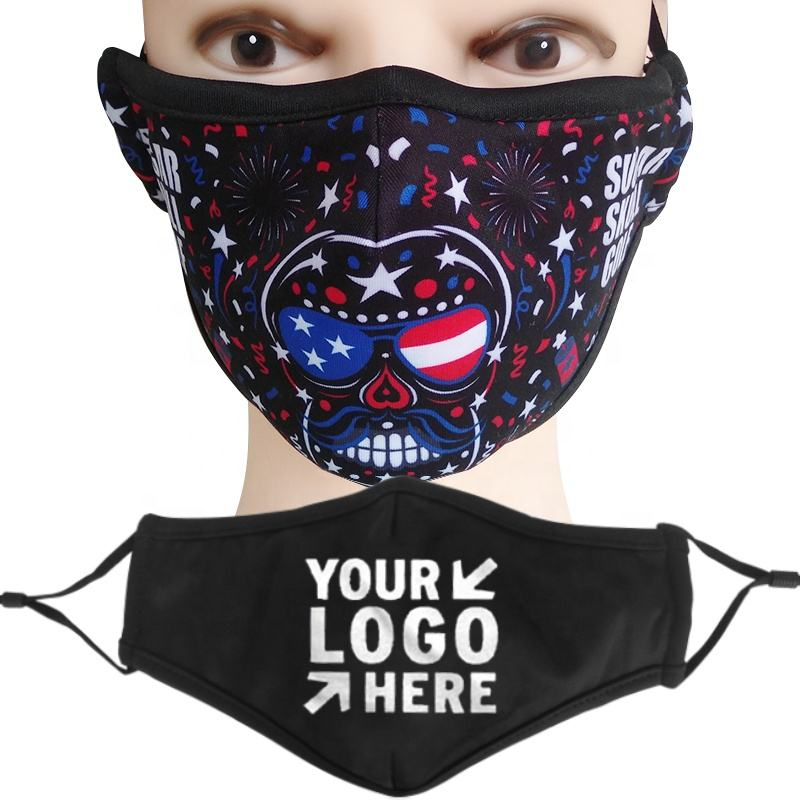 Happyslides Custom Logo Cloth Maskes Fashion Cotton Maske Designer Face Maskes Wholesale