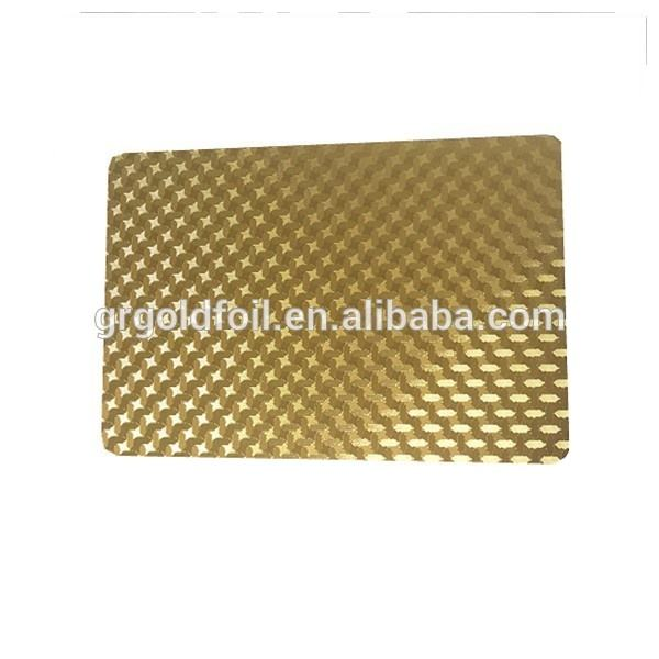 Silver/gold/golden metal business card/embossing cards