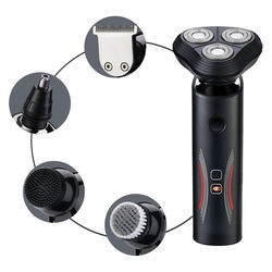 Electric Shaver Razor for Men Nose Hair Trimmer 5 in 1 Trimmer Grooming Kit Waterproof USB Rechargeable Dry Wet