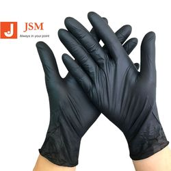 50pairs/box Disposable Black Plastic Gloves For Beauty  Nail