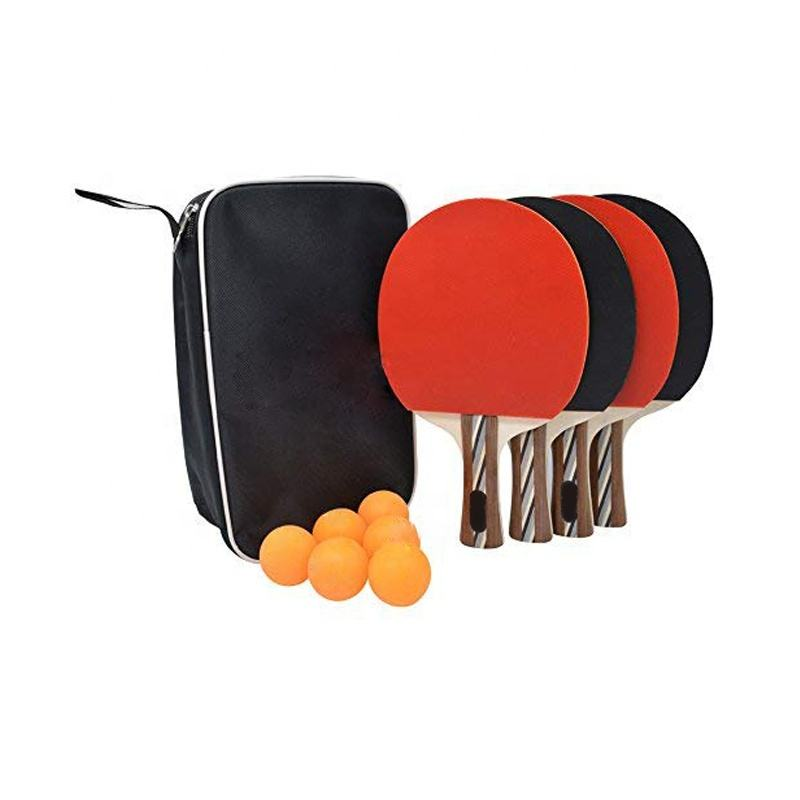 Hot sale in europe four player six balls pingpong set factory directly provide price table tennis bats