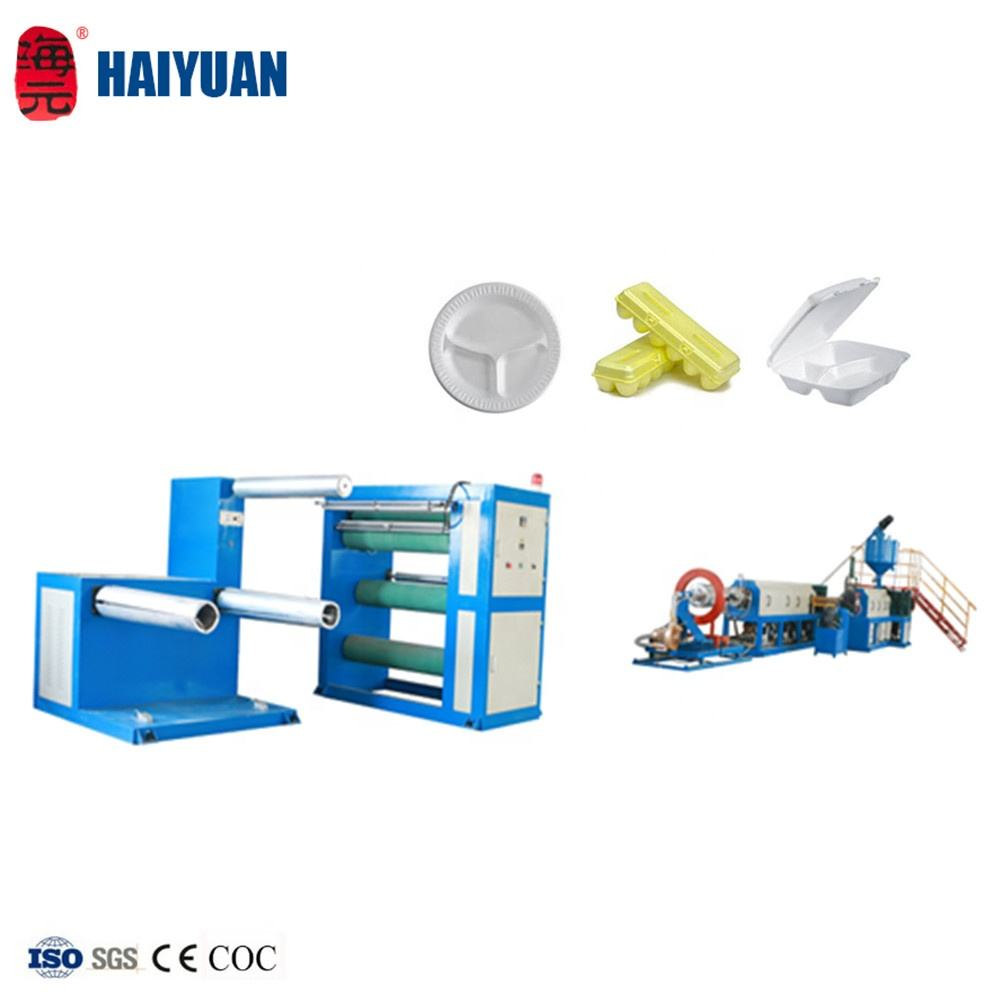 Longkou Haiyuan plastic granulating machine/polystyrene recycle machine/psp foamed sheet extrusion line