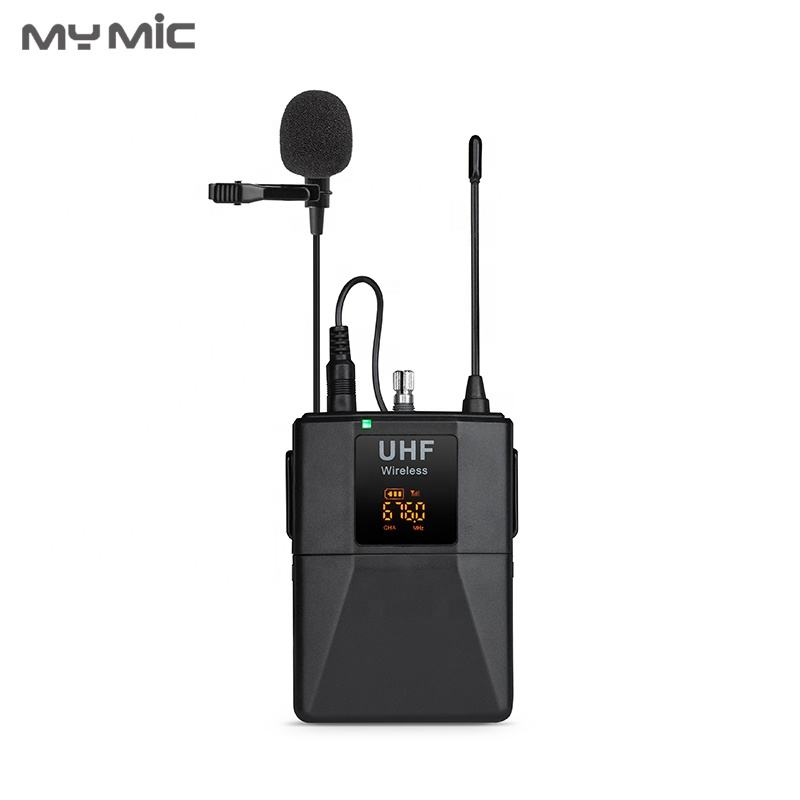 MY MIC WLJ01 UHF Wireless Lavalier Microphone clip Lapel Microphone For Camera Smartphone laptop PC