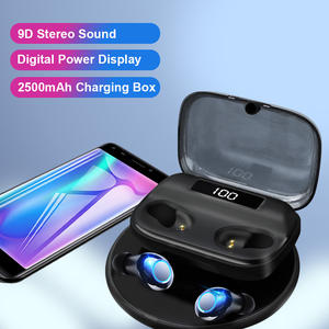 Free Shipping 2500 mAh Wireless Earbuds Bluetooth 5.0 Headphone Headset TWS Wireless Earphones
