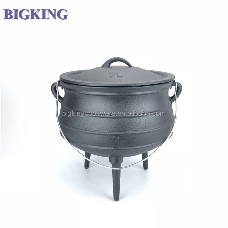 cauldron approx 3 litre kettle Cast Iron Potjie South African Dutch Oven