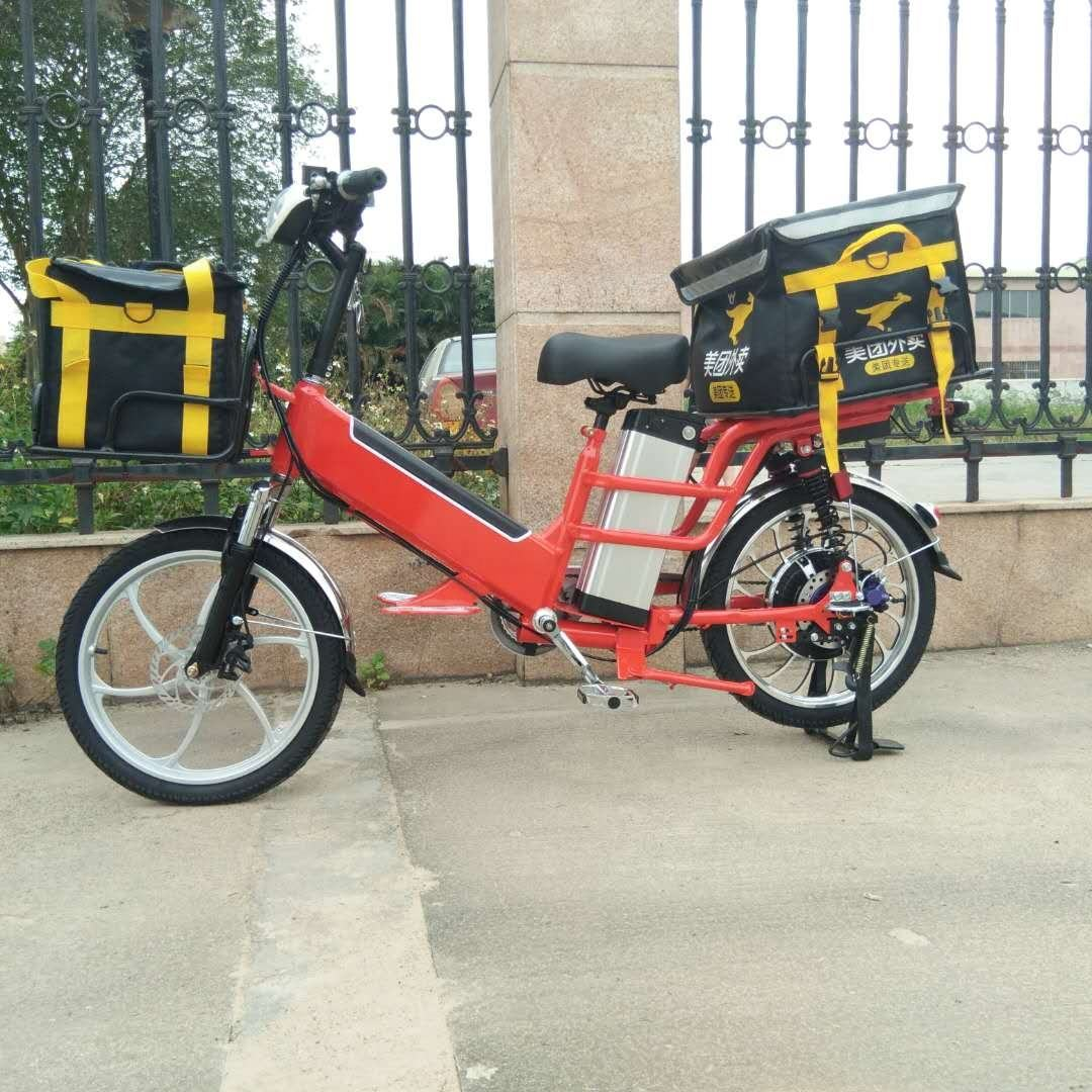 12+30ah/48v double lithium batteries350w/48v motor disc brakes hydraulic suspension Electric delivery bike
