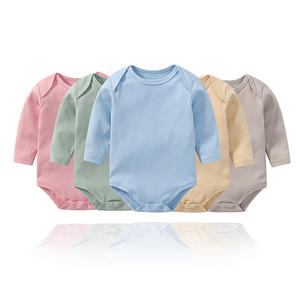 high quality multicolor long sleeve clothing cotton clothes infant baby rompers
