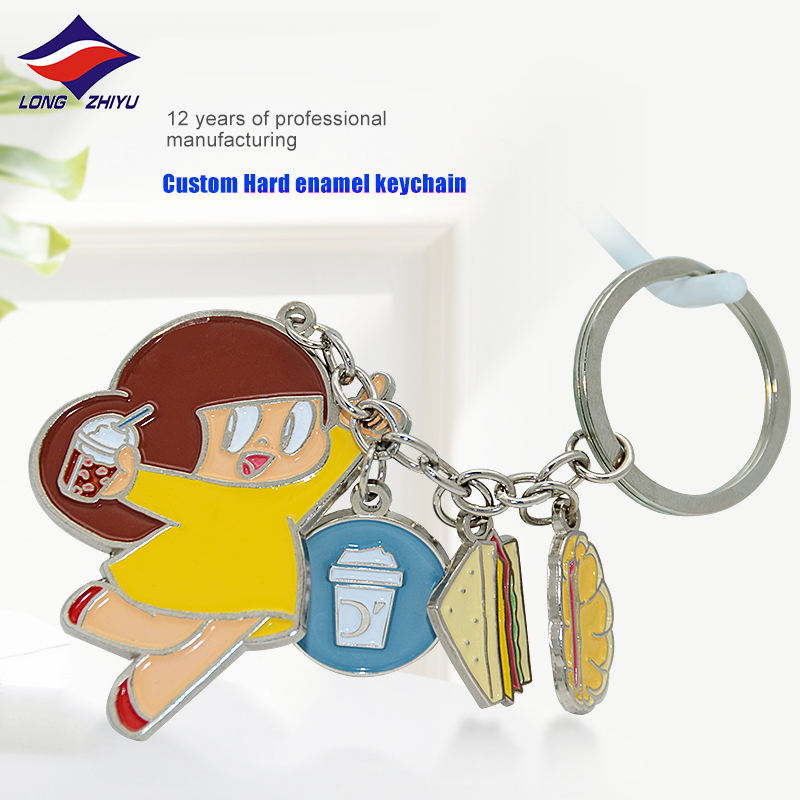 Packaging Customization Key Chains Longzhiyu 13 Years China Professional Supplier Customised Metal Cartoon Key Chains Wholesale Custom Fashion Enamel Key Chains