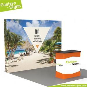 Garanzia di qualità 100% poliestere stampa fiera visualizzazione ambientale chioschi stand di visualizzazione