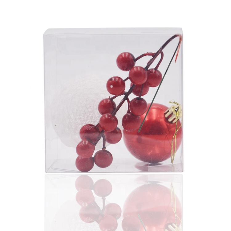 CLP 50pcs Package 2.5x2.5x2.5 Inches(6.35x6.35x6.35cm) Clear Plastic Candy Gift Box PVC