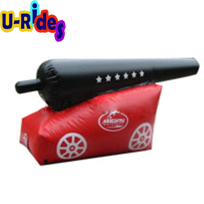 Double Color Cannon Style Inflatable Paintball Bunker For Sale