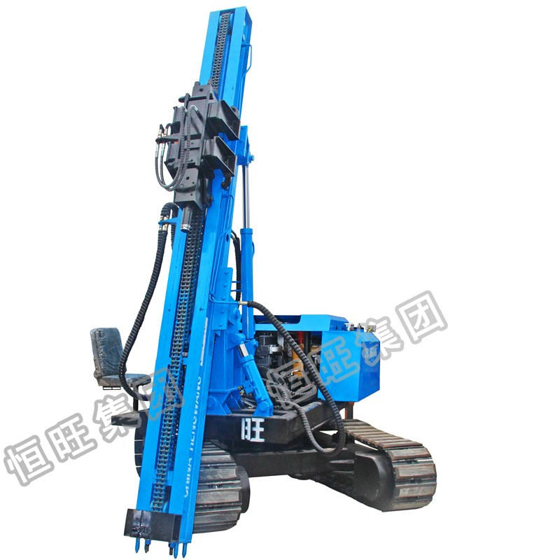Hydraulic type bore hole pile driver drilling machine