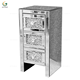 Luxury crushed diamond bedroom furniture modern bedside mirrored night stand
