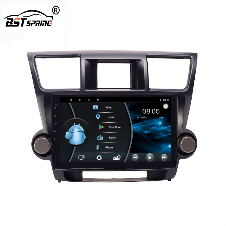 Bosstar 10.1 Inch Auto Audio Gps Multimedia Systeem Android Dvd-speler Voor Toyota Highlander Kluger 2009 2010 2011 <span class=keywords><strong>2012</strong></span>