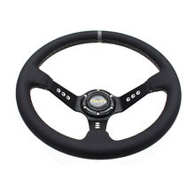 Universal 350mm Aluminum Racing Battle Car Steering Wheel