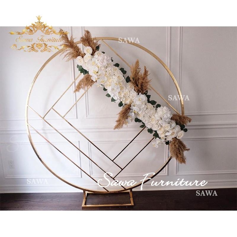 Activity and party supplies wedding decoration stage background props wrought iron background