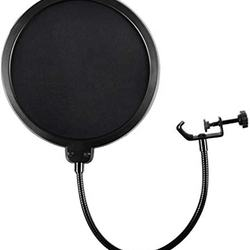 Microphone  Pop Filter Mic Dual Layered Wind Pop Screen  Double Screen Pop Filter