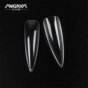 New arrival 500pcs Full Cover Long Stiletto Natural Clear Ballerinas acrylic False Nail Tips