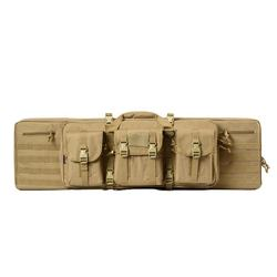 "36"" stock hunting rifle gun bag khaki long locking military dual or single tactical rifle gun case"