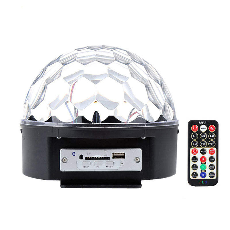 6 Colors Rotating Disco Ball Party Lights Led Bluetooth Speaker Remote Control Magic Crystal Ball For Home Xmas Wedding Show