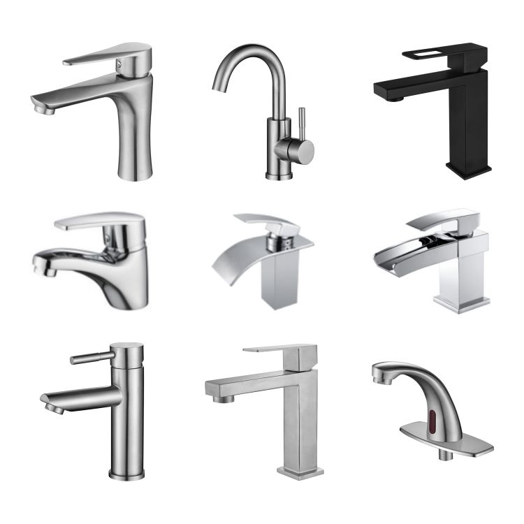 Deck mounted mixer taps SUS304 lever tap single handle bathroom faucet for washing basin