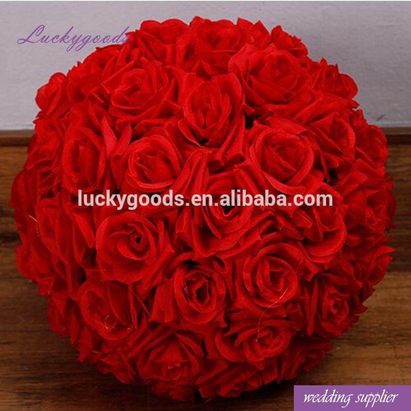 "12 pcs of 7/"" Flower Kissing Ball Wedding Silk Rose Party Pomander bulk lot"