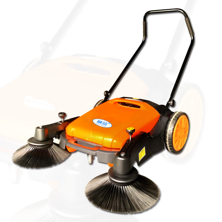 Fuel and electric free hand push type floor sweeper machine