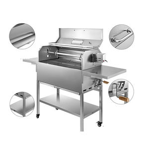 Outdoor picknick roestvrij staal draagbare barbecue bbq houtskool grill