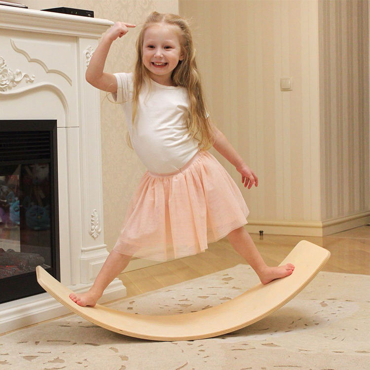 Waldorf Toys Balance Board Wood Wobble board montessori kinderboard yoga curvy fitness board kids other baby educational toys