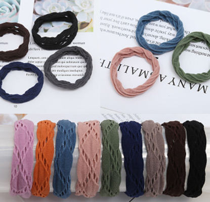 wholesale 24PCS/Box Women Rubber Band Adult Heaseamless hair tie elastic band hair elastic for girls Elastic Ribbon