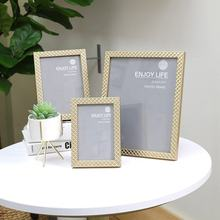Fashion Design Modern Popular Customize Gold Promotion Gift Plastic Picture Photo Panorama Frame
