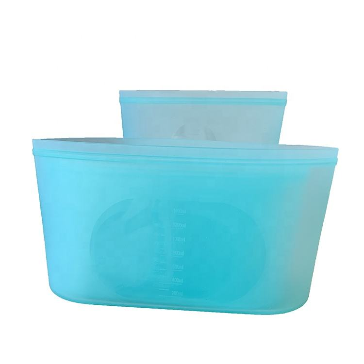 High quality cheap silicone storage food bag storage container house custom zip bag