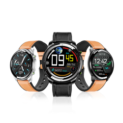 New Men H15 Smart Sport Watch Wireless Charging Full Touch Thin Body Call Reminder Round Smartwatch