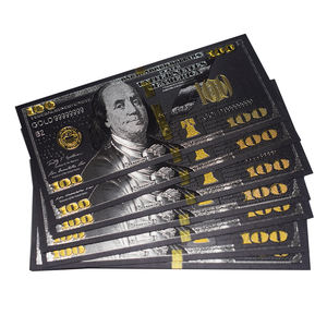 High quality custom gold foil US dollar banknotes Gifts Collection Money souvenir banknote