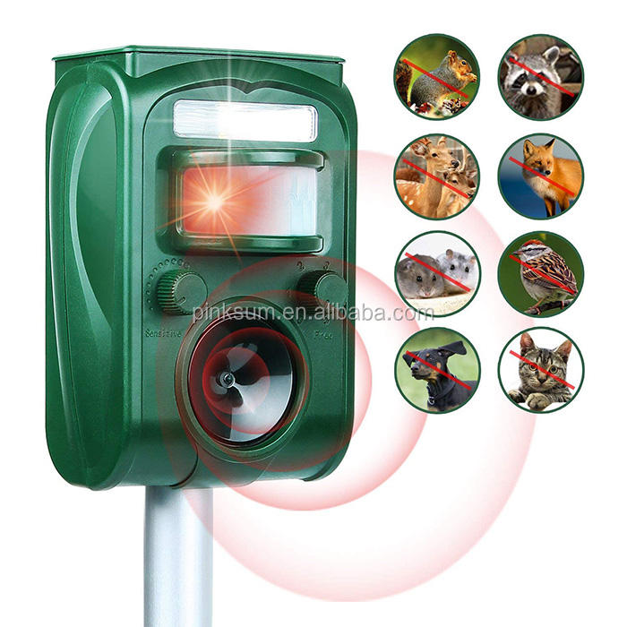 GH-501 Ultrasonic pest repeller lagarto morcego macaco animal repelente pombo solares ultra-sônica