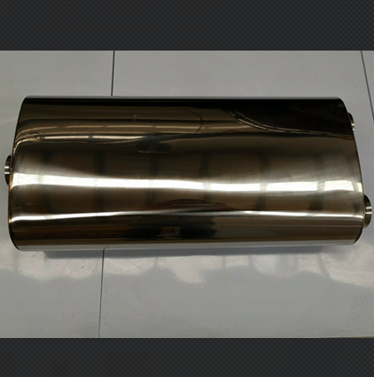 Exhaust Muffler 1 inlet 2 outlet oval body 28x14cm large size 304 stainless steel muffler exhaust