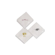 White paper towels napkins serviettes with logo