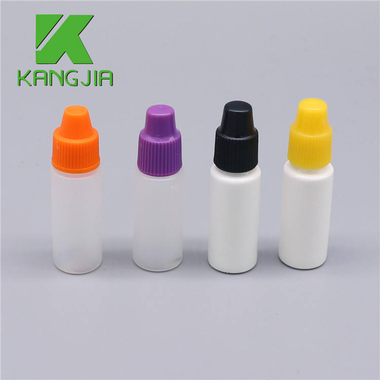 3ml plastic chemical childproof eye dropper bottles